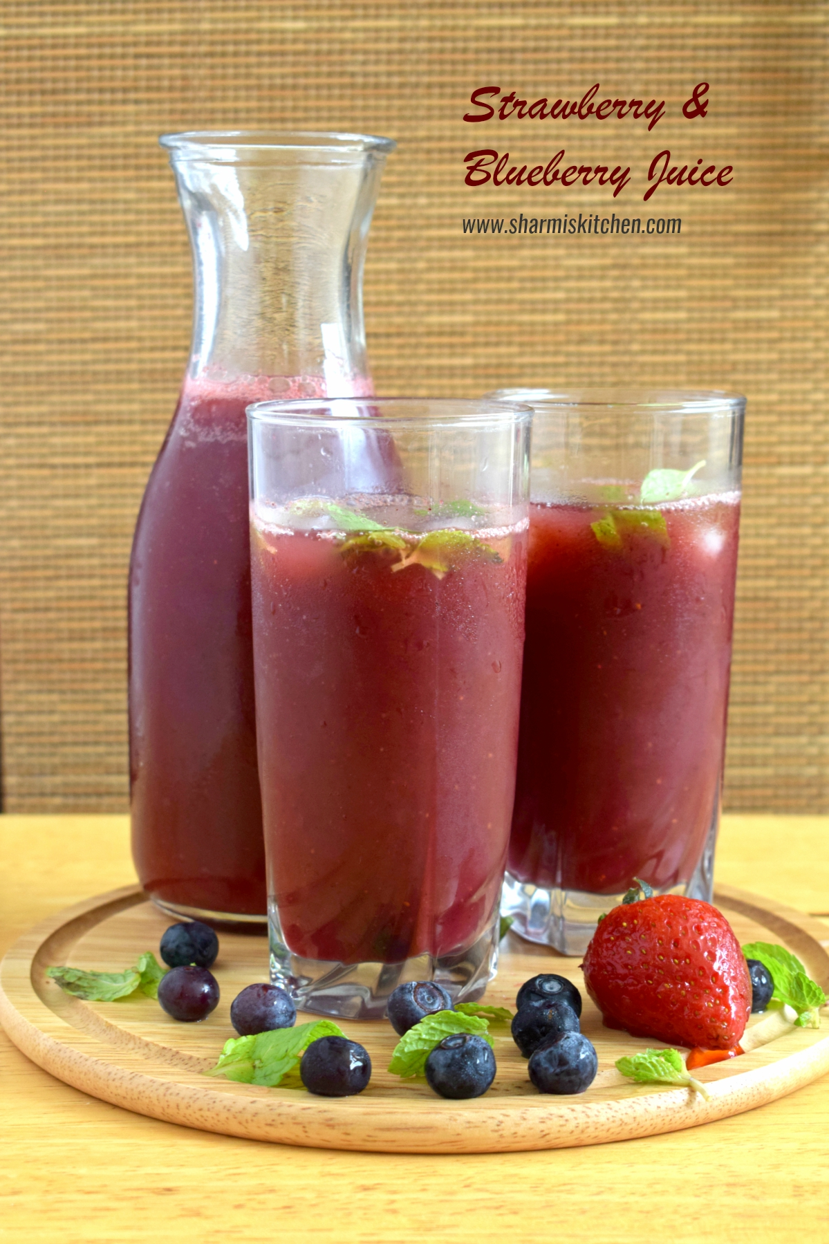 Strawberry and Blueberry juice Recipe