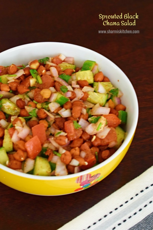 Sprouted Black Chana Salad Recipe Sprouted Kala Chana Chaat
