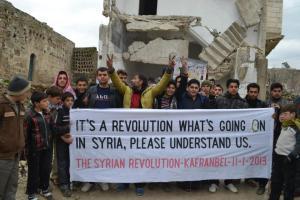 From Kafranbel, Syria