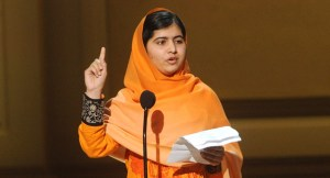 Malala Yousafzai appears onstage at the 2013 Glamour Women of the Year Awards on on Monday, November, 11, 2013 in New York. Credit: Brad Barket/Invision /AP Images)