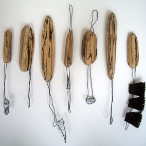 Sharon Adams Spalted Beech Tools 2011