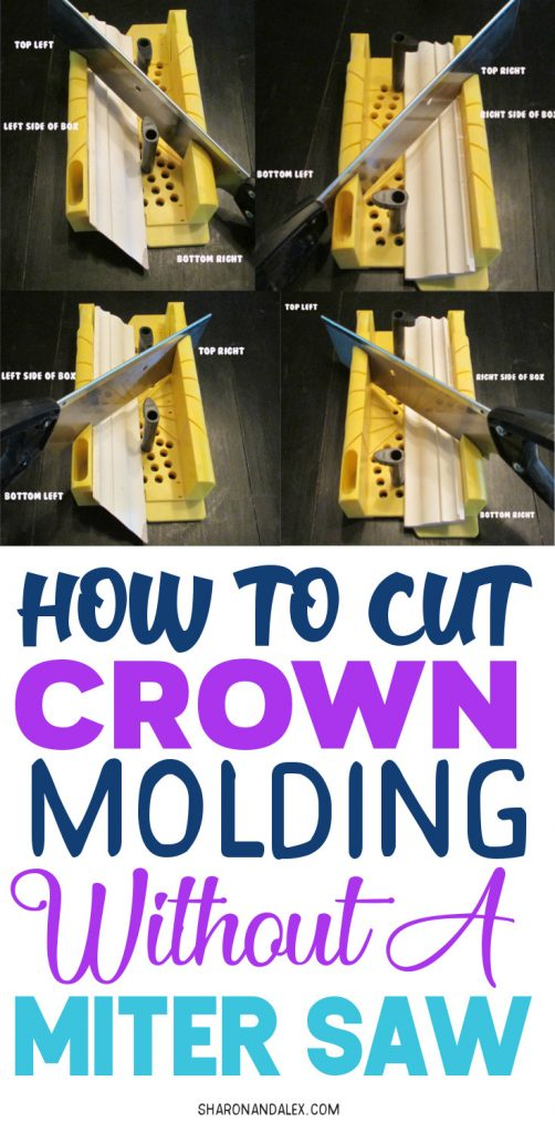 Cutting crown molding is HARD for beginners. And even for more experienced DIY'ers too! If you don't have a miter saw, check out how you can cut crown molding correctly the first time using a cheap miter box.