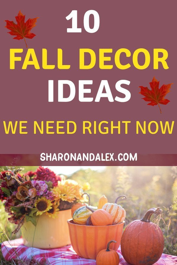 If you love all things pumpkin, apple or leaf related, you need to check out these 10 fantastic fall decor ideas. Add a touch of fall to your home and get ready for sweaters and pumpkins! #fall #falldecor #homedecor #decorideas