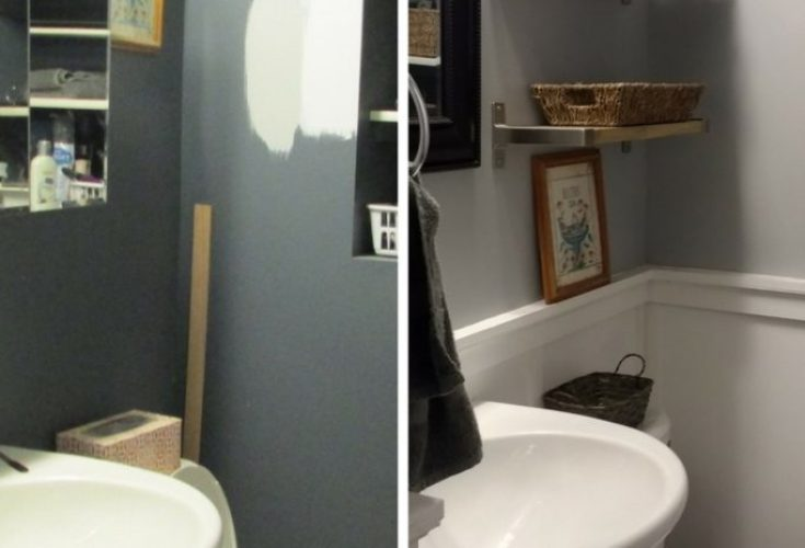 My Small Bathroom Makeover That Only Took a Weekend!