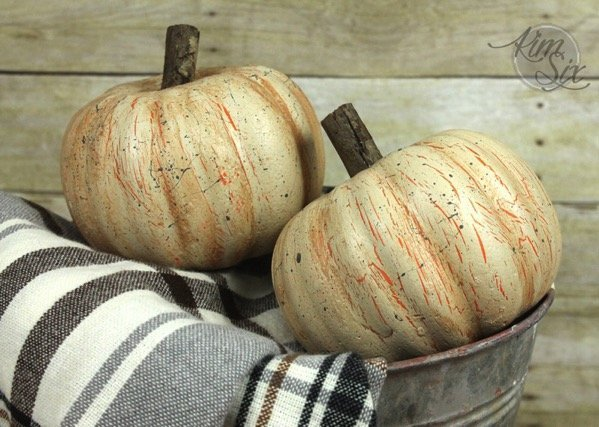 Fall Decor Distressed Pumpkins