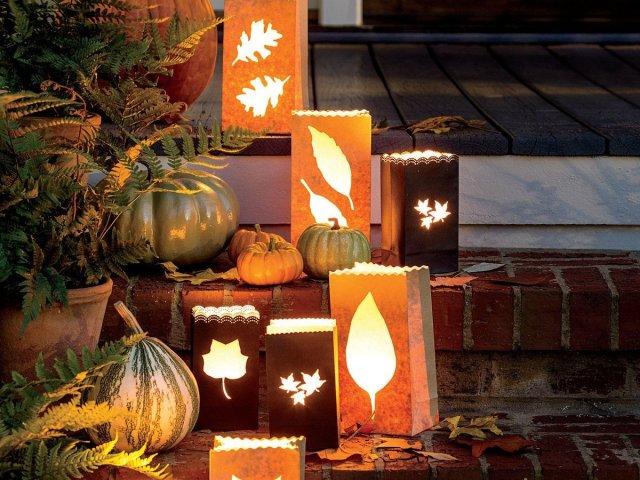 Fall Decor - Paper Luminaries