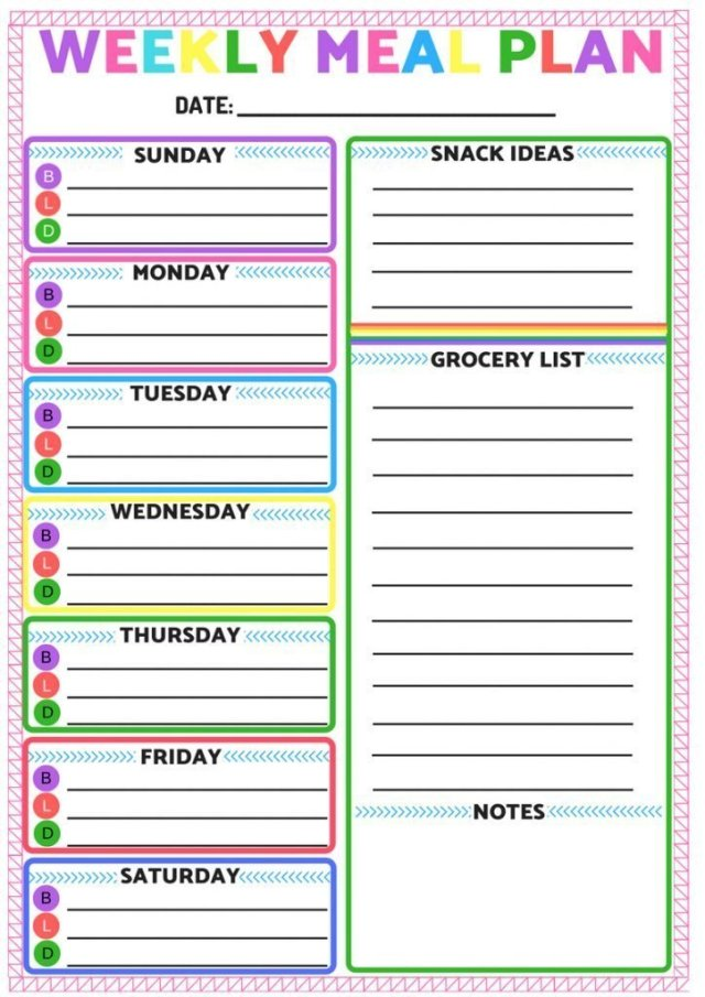 Does meal planning got you down? No worries! Check out this 7 day meal plan, complete with recipes and a printable grocery list! And there's also a blank weekly meal plan printable! #mealplanning