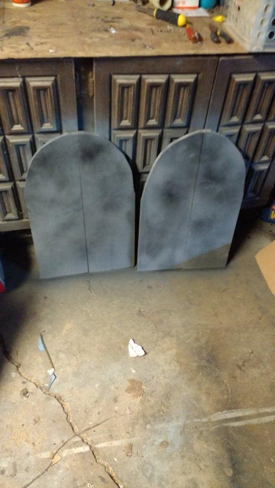 Halloween graveyard tombstones