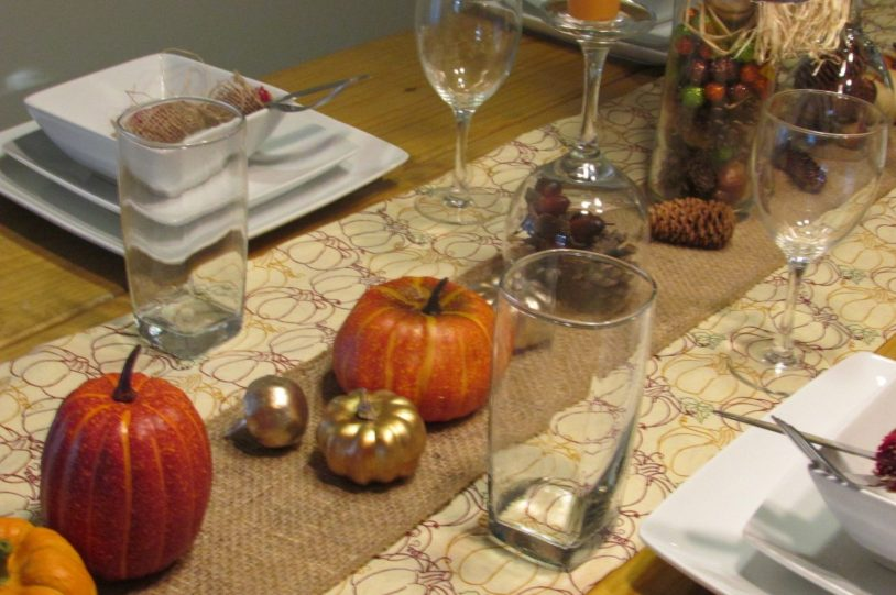 thanksgiving decorations DIY Tablerunner