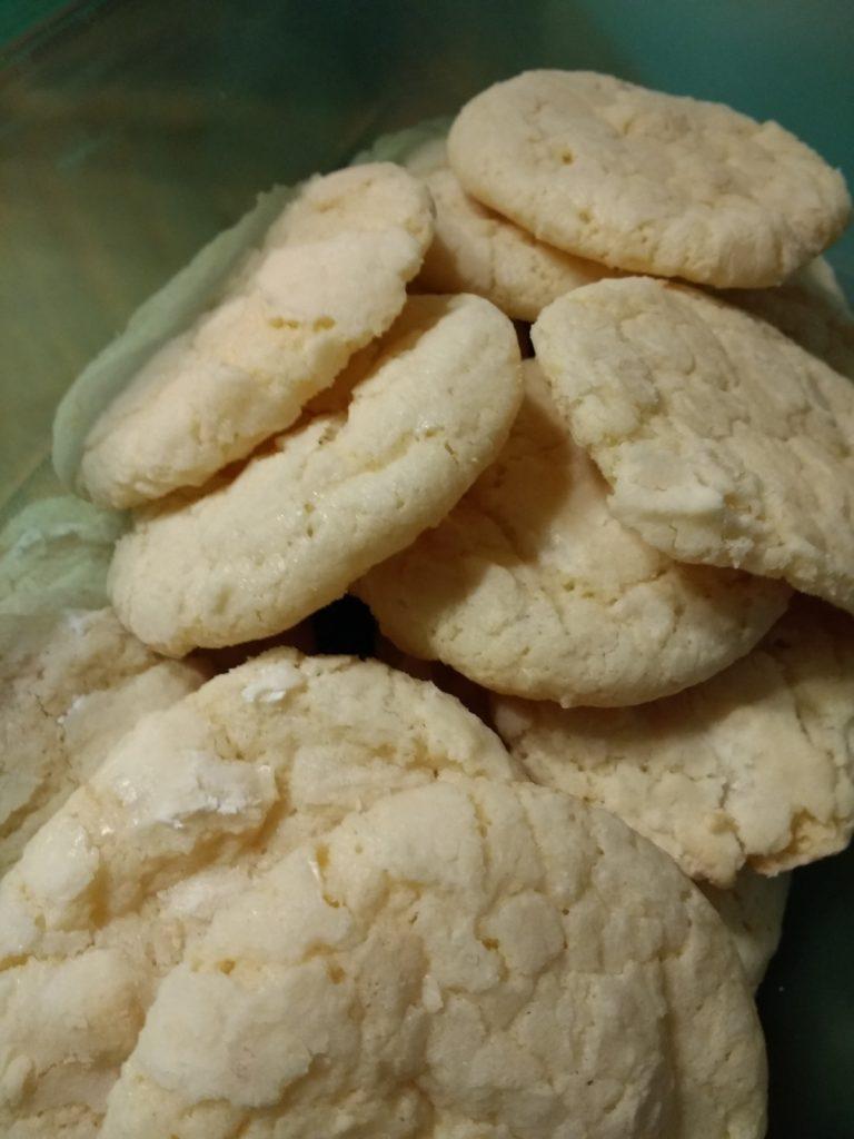 Lemon Crinkle Christmas Cookie