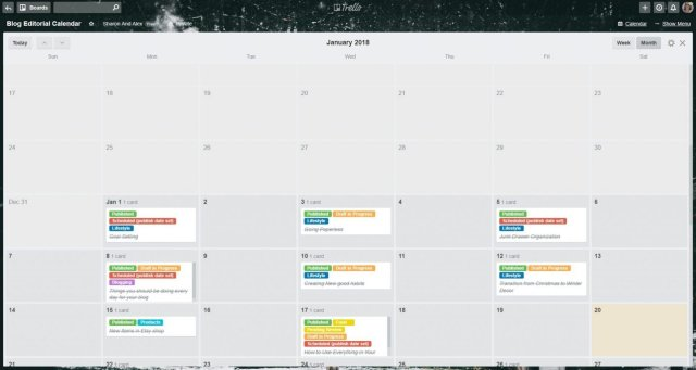 Trello Calendar 2