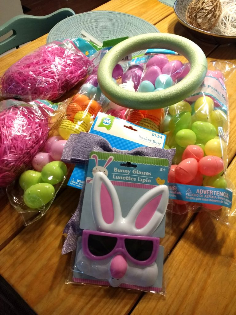 dollar tree easter wreath supplies