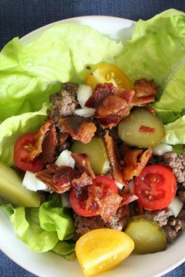 Keto Recipes - Bacon Ranch Burger Bowls