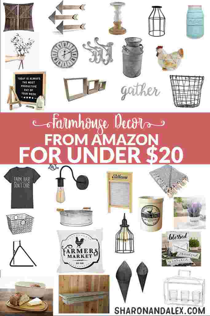 These farmhouse decor items are budget-friendly and stylish. If you love farmhouse decor but are on a budget, you need to check these out!