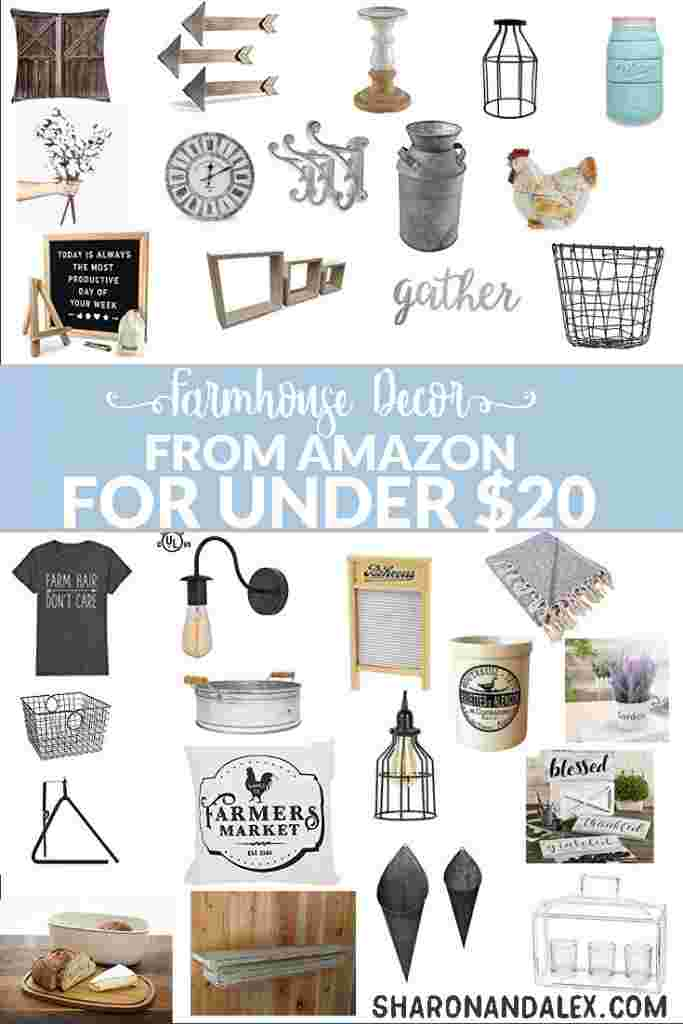 If you love Fixer Upper and farmhouse decor but are on a budget, check out these farmhouse decor finds from Amazon that are under $20.