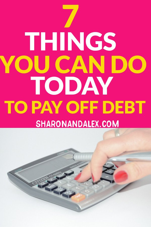 Are you struggling with debt and stressed out all of the time? Here are 7 things you can do today to pay off debt, start saving money, and live a life of financial freedom.