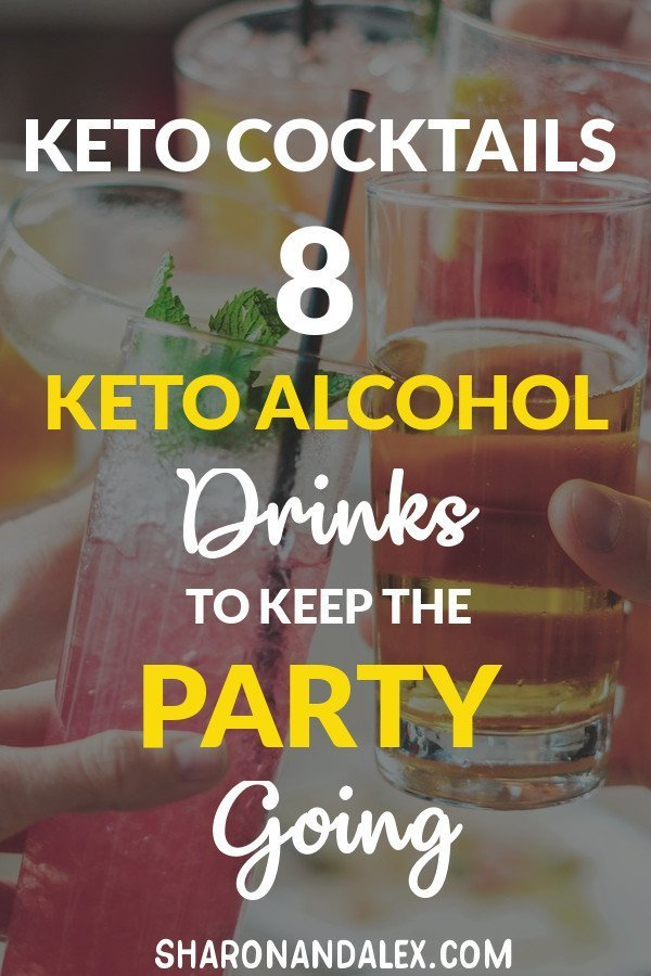 If you're following the keto diet and like to enjoy a cocktail occasionally, here are 8 keto alcohol recipes that will keep you in ketosis. #keto #ketoalcohol #ketogenicdiet #ketodrinks