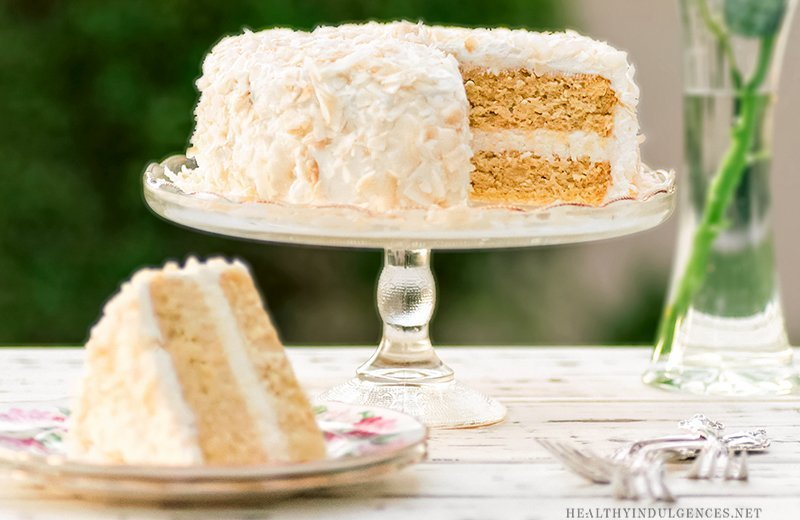 Low Carb Birthday Treats - Healthy Vanilla Coconut Cake