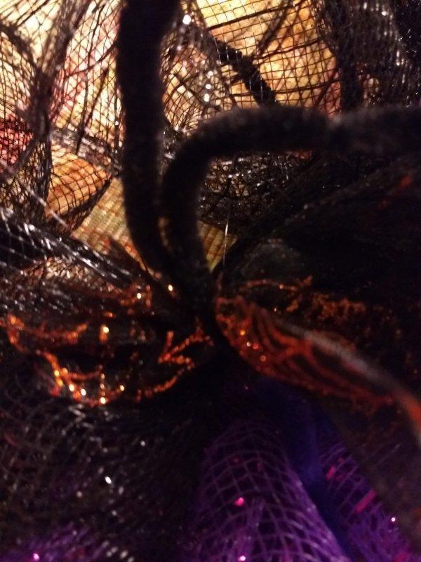 Deco Mesh Halloween Wreath Tulle