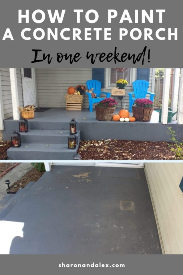 Learn how to paint a concrete porch in just one weekend!