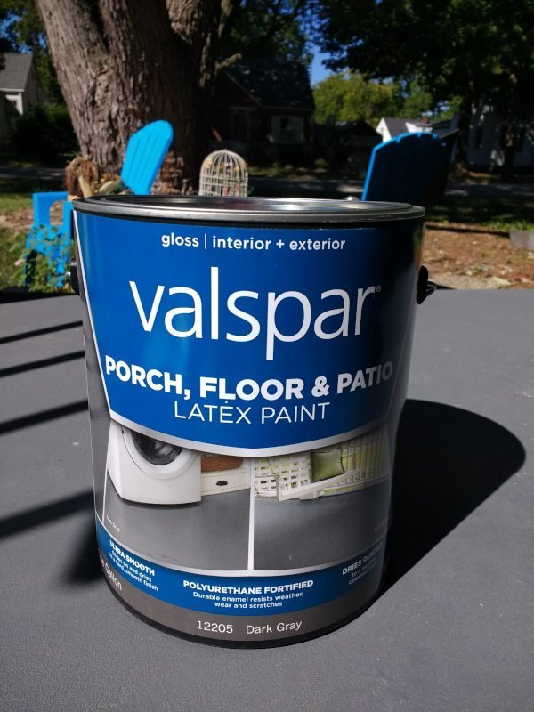 Paint a concrete porch paint type