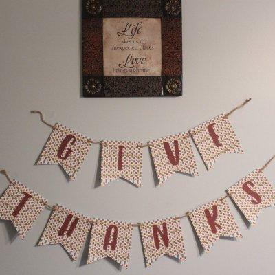 Thanksgiving Banner Hanging