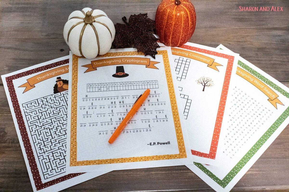 Free Printable Thanksgiving Games