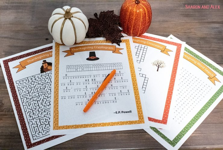 Free Printable Thanksgiving Games