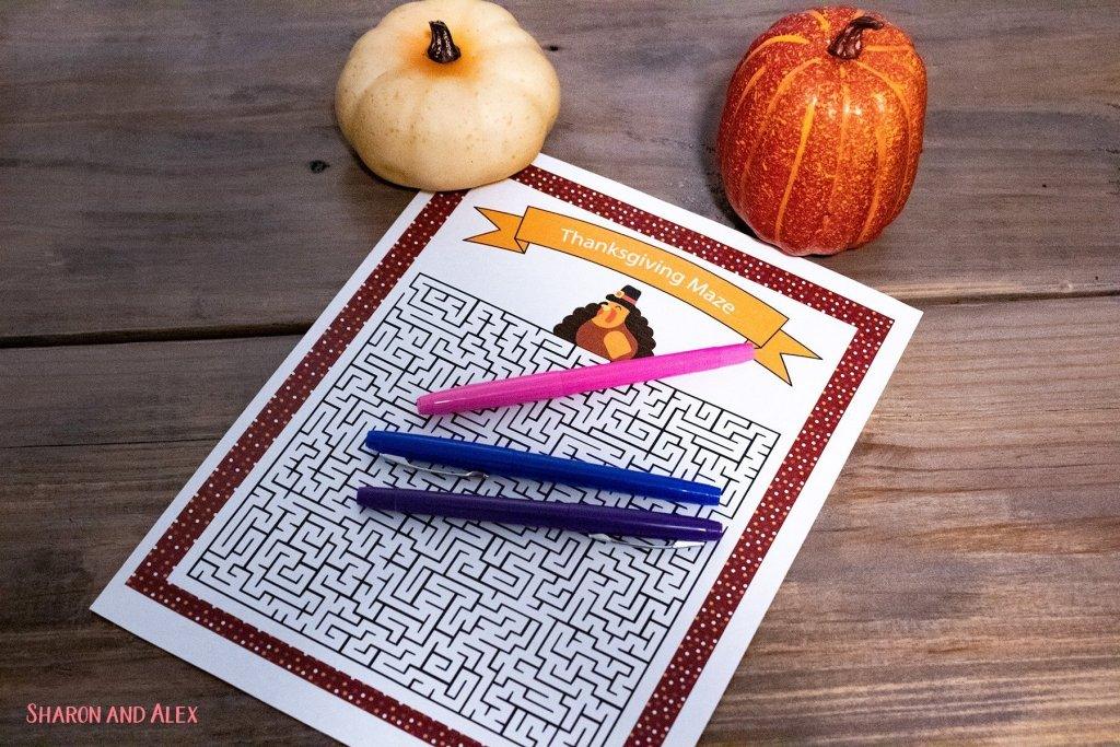 Free Printable Thanksgiving Games - Maze