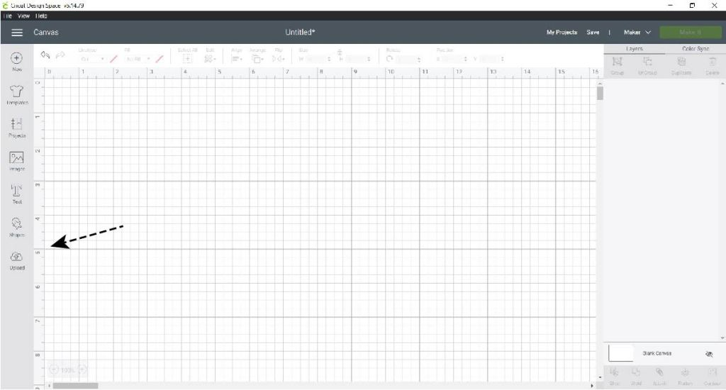 Upload SVG Files to Cricut Design Space Step 1
