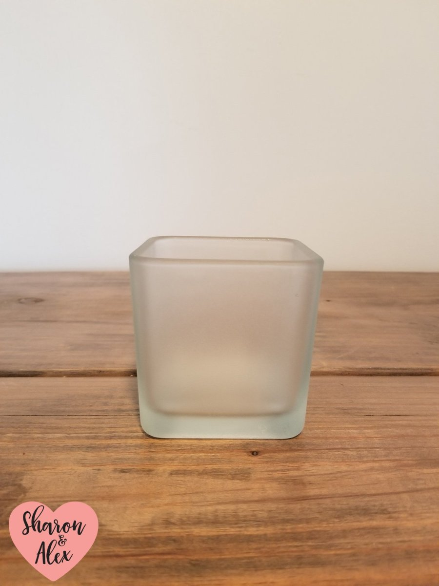 DIY Frosted Candle Holder Plain