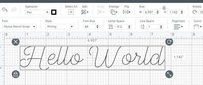 Negative letter space