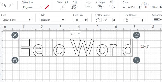 Regular font with outline