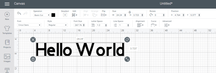 Cricut Design Space Tutorial Toolbars