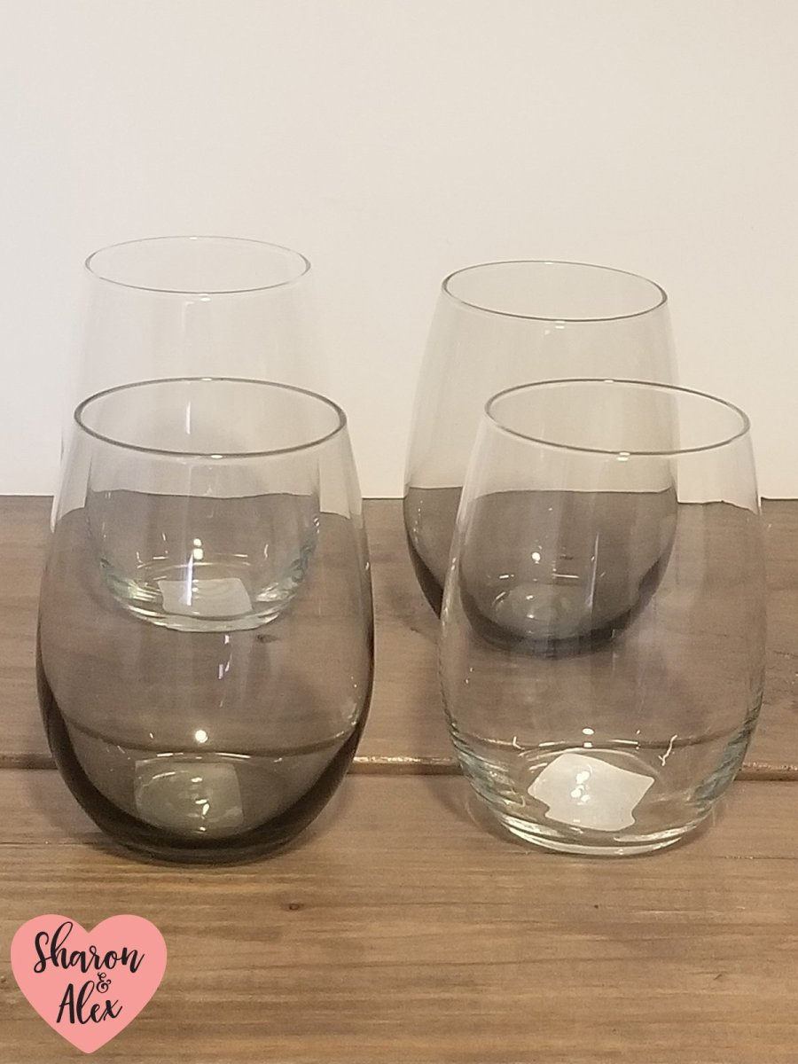 Wine Glasses from Dollar Tree