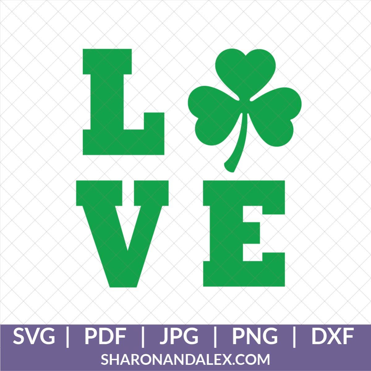 Love SVG for St. Patrick's Day