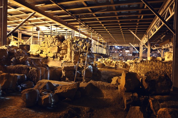 Underground in the City of David (photo provided by the City of David Visitor Centre)