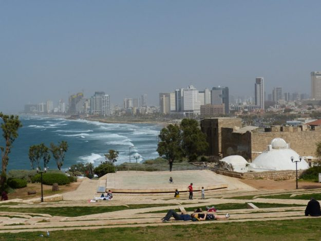 View of the Tel Aviv coast from the Old City of Jaffa