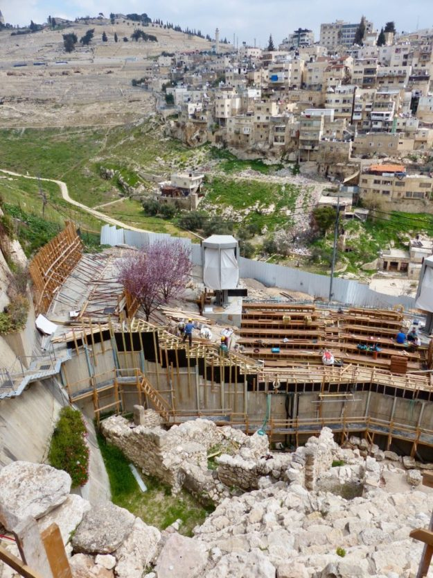 Ongoing excavations at the City of David, Jerusalem