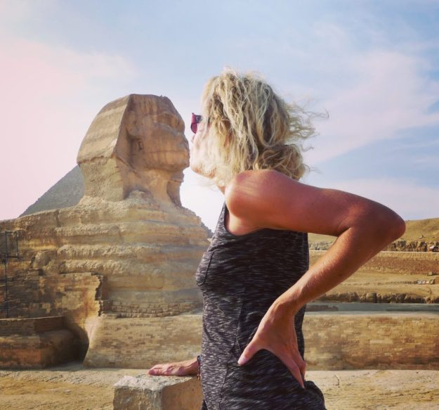 Kissing the Sphinx...a must photo shot!