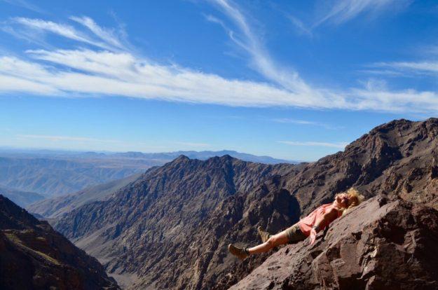 Having a rest on Mount Toubkal