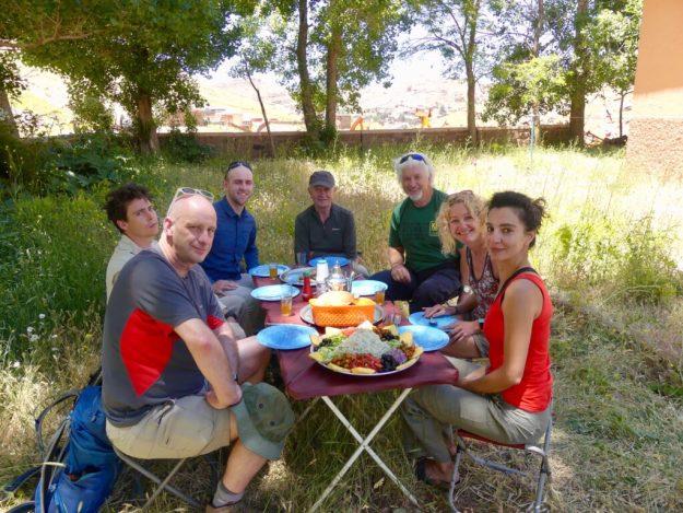 The seven trekkers (Alister, John, Brian, Ken, Me, Nathan and Ghazaleh)