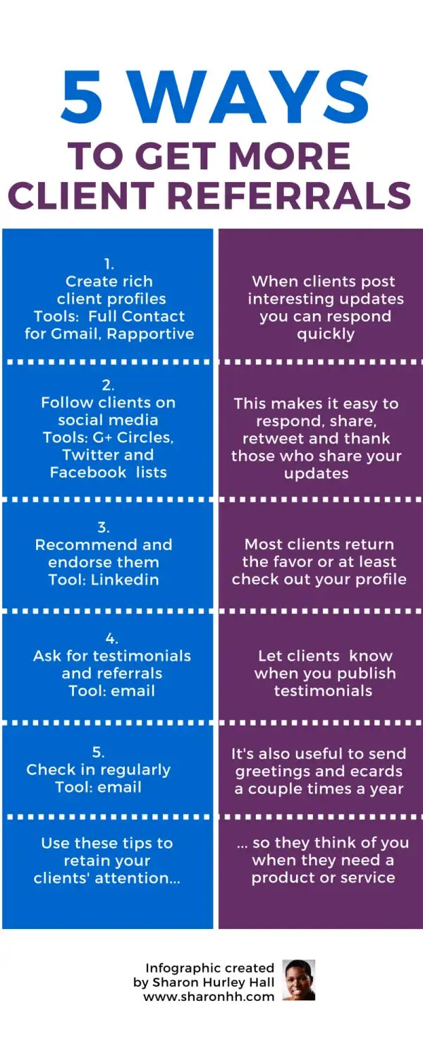 Client Referrals 5 Ways to Get More Infographic
