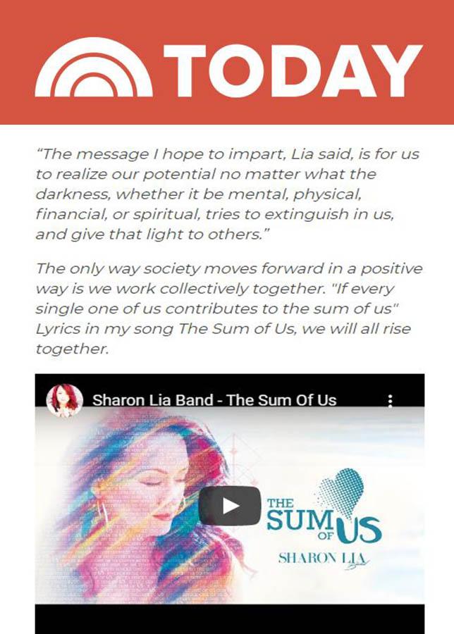 Sharon Lia Band - The Today Show Magazine