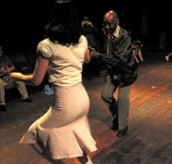 Dancing with legend Frankie Manning // Photo by Trevor Hutchison