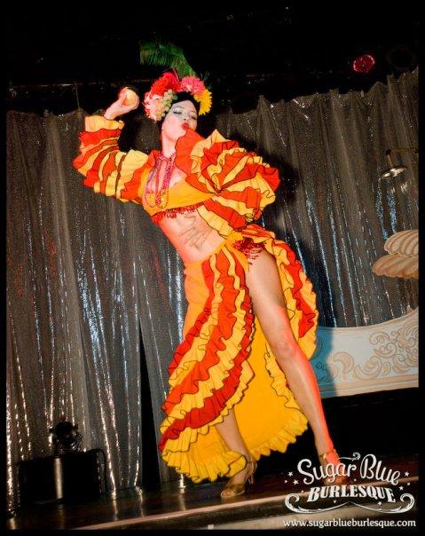 Carmen Miranda tribute for Sugar Blue Burlesque, Perth Australia // Photo by Gregory Bruyer