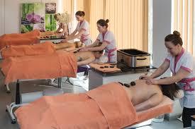 clients enjoying spa