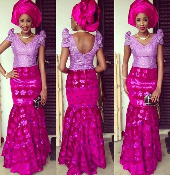 Lilac and Fuschia - This style looks great on most women