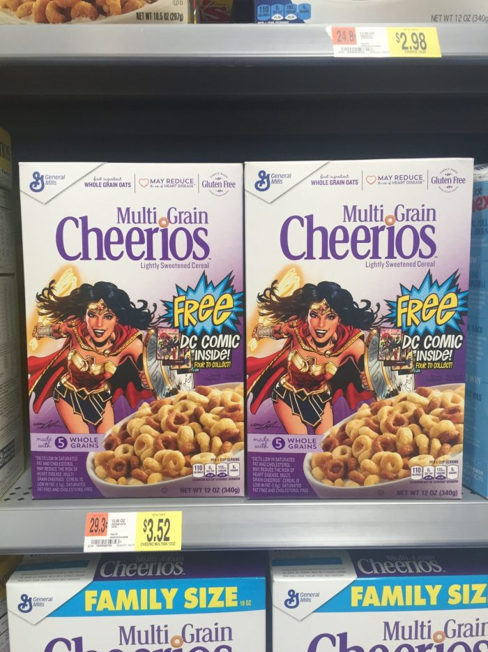 Wonder Woman Comic 2017 Cheerios Cereal Box 2