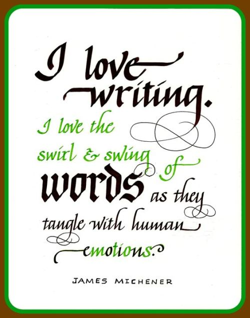 Human Emotions - James Michener - Swirl and Swing of Words